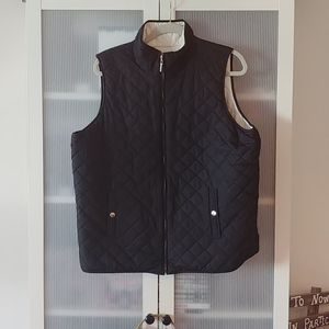 Reversible Zip front Quilted Vest